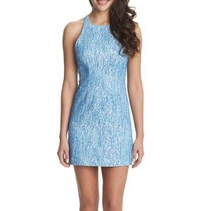 CeCe Cynthia Steffe blue cutout sheath dress 6 NEW